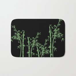 Bamboo design green - black Bath Mat