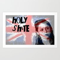 orphan black Art Prints featuring Orphan Black  - Holy Shite by Sullied By A Dream