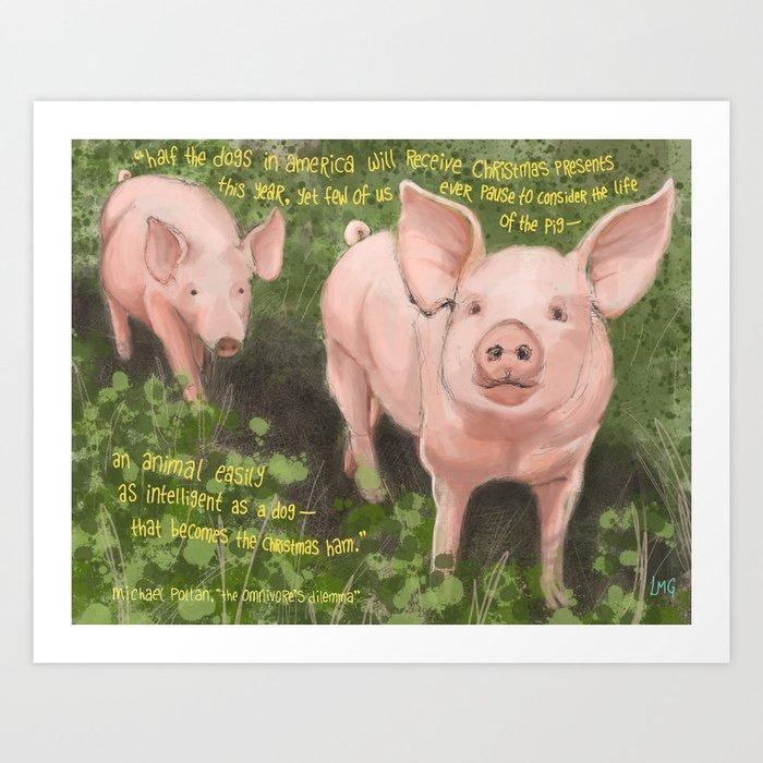 Pigs 2 Art Print