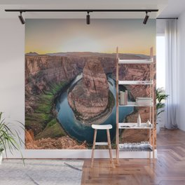 The Bend - Horseshoe Bend During Southwestern Sunset Wall Mural