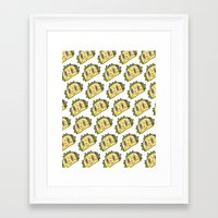 taco Framed Art Prints featuring Taco Buddy by Frenemy