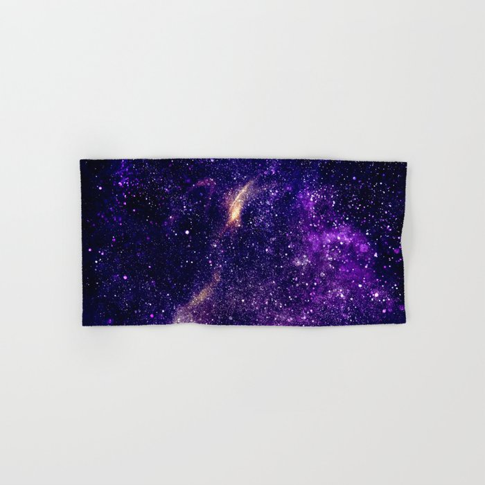 Ultra violet purple abstract galaxy Hand & Bath Towel