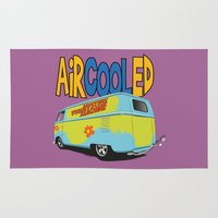 vw bus Area & Throw Rugs featuring VW Camper Drag Bus by VelocityGallery
