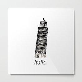 Italic Pisa Tower Metal Print