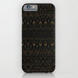 Gold Multi Chevron Pattern Design iPhone Case