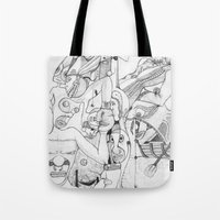 airplane Tote Bags featuring Airplane by ℳajd