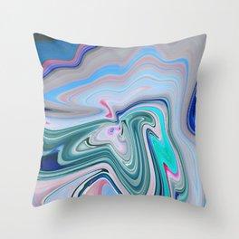 Pastel Layers Throw Pillow