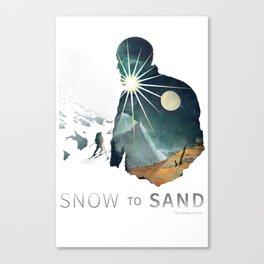 """Snow To Sand"" Official One-Sheet Poster Canvas Print"