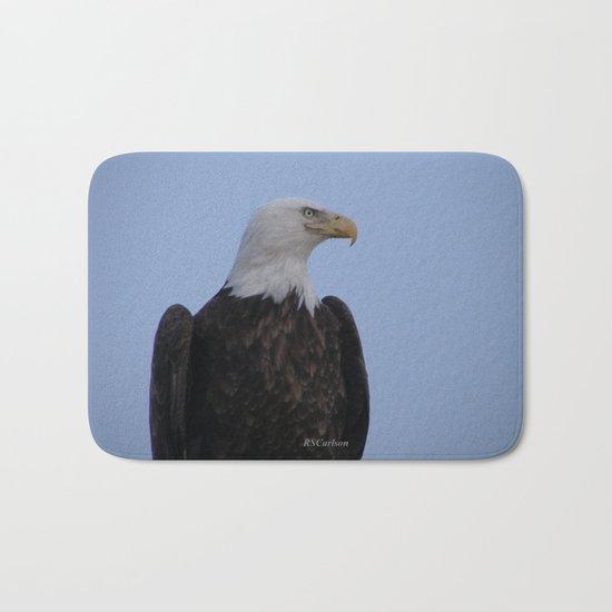 Bald Eagle on Watch along the Kenai River Bath Mat