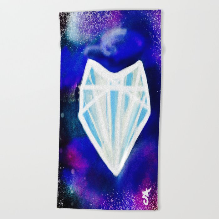 Hearts or Diamonds, I'll Take Diamonds Beach Towel