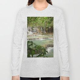 Zen Waterfalls Harmony #2 Long Sleeve T-shirt
