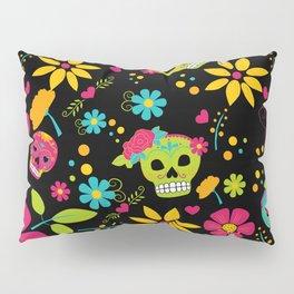 Dia De Los Muertos (black) Pillow Sham