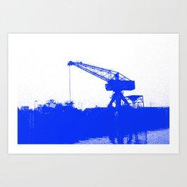 M A N Canal Port Crane Art Print