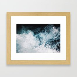 Blue Swells Framed Art Print