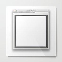 window_(computing) Metal Print