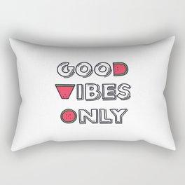 Good Vibes Only Rectangular Pillow