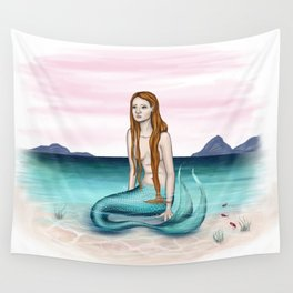 Sulky Mermaid Wall Tapestry