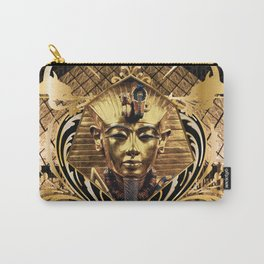 All Over Print Luxury Gold Vintage Pharaoh Ornament Carry-All Pouch