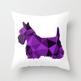 Geo Scottie - Purple Throw Pillow