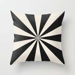 black starburst Throw Pillow