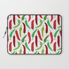 New Mexico Christmas Hatch Chiles in White Laptop Sleeve