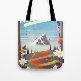 Idaho! landscape travel poster Tote Bag