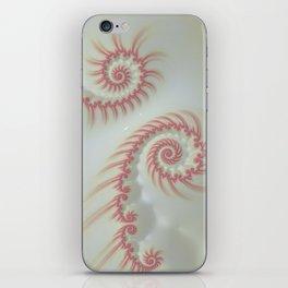 Candy Cane Swirl Pastel - Fractal Art iPhone Skin