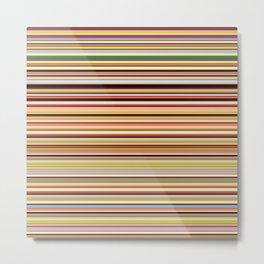 Old Skool Stripes - Horizontal Metal Print