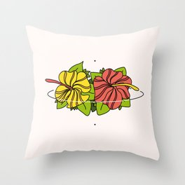 Caye - ins Throw Pillow