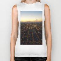 skyline Biker Tanks featuring Skyline by Mints&Bees