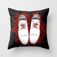shoes Throw Pillows featuring Shoes by Tamar Kasparian