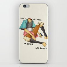 When I Was Little, My Father Was Famous. (Type) iPhone & iPod Skin