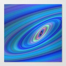Blue Space Canvas Print