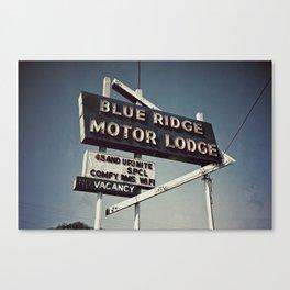 Motor Lodge Canvas Print