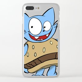 Hamburger Cat Clear iPhone Case