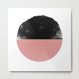 Black and Pink Mountain Sunset Metal Print