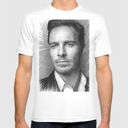 Michael Fassbender - Portrait T-shirt