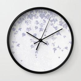 Soft Purple Trailing Ivy Leaf Print Wall Clock