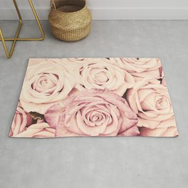 Some people grumble Floral rose roses flowers garden pink Rug