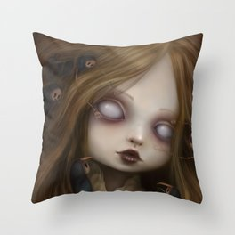 The face of all your fears Throw Pillow