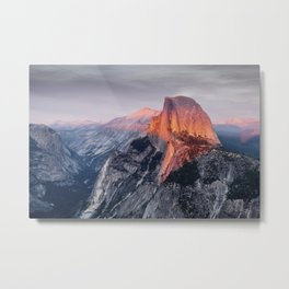 Half Dome at sunset as seen from Glacier Point in Yosemite National Park, North America Metal Print