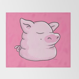 Piggy Catbear Throw Blanket