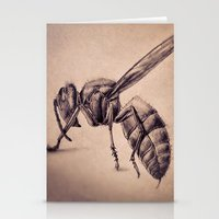 bee Stationery Cards featuring Bee by Werk of Art