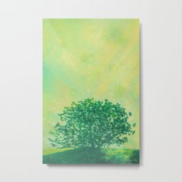 Green Lone Tree, Summer Sunlight Metal Print
