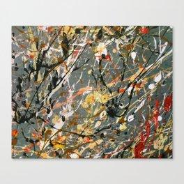 Jackson Pollock Interpretation Acrylics On Canvas Splash Drip Action Painting Canvas Print