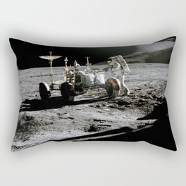 Apollo 15 - Moonwalk 1971 Rectangular Pillow