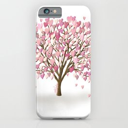 Pink Heart Tree iPhone Case