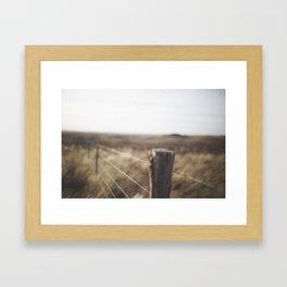 Fencline Framed Art Print
