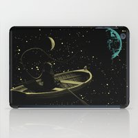 rowing iPad Cases featuring Rowing in Sillence Art Poster by Lautstarke