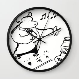 Ape Crooner Gets the Audience Stirred up Wall Clock